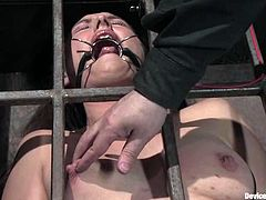 Hot brunette slut Sister Dee is having fun with some guy in a prison. She lets him bend her over and enjoys the way he treats her.