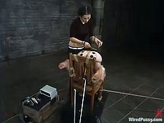 Ropes and toys are used in this lesbian BDSM video where Lorelei Lee is dominated and toyed. It's quite hot and very kinky.