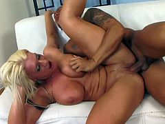 Curvy Sadie Swede gets nailed by asian stud