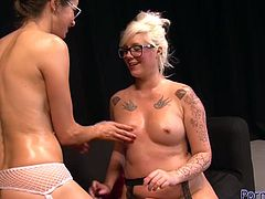These four eyed lesbians like spending their free time together. In this hot lesbian sex video they act really naughty. They are fisting and kissing each other like there's no tomorrow.