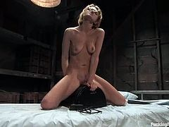 Watch the hot and horny Emily Evermoore having a blast getting her pussy fucked by machines and sybian in this video.