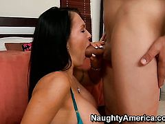 Jenna Presley with gigantic hooters and smooth snatch plays with Ben English's sturdy fuck stick