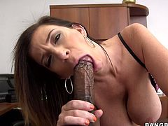 Watch this hottie getting fucked inher sexy and small mouth by her friend's large and black cock in Bang Bros Network sex clips.