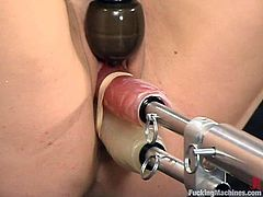 This kinky and playful blond babe Harmony doesn't imagine having a day without some fun on a fucking machine. That is the level of her hunger!