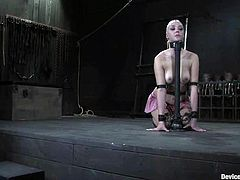 Annette Schwarz gets bounded and tortured with clothespins