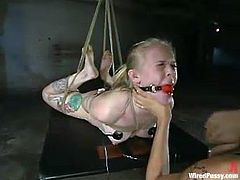 Sarah Jane Ceylon enjoys getting her snatch toyed in BDSM scene