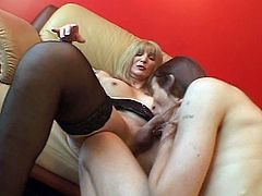Check out this horny tranny showing off her big stiff cock and using her favorite toy to penetrate her asshole. She is ready to show her amazing skills for you.