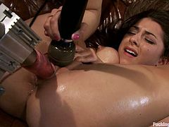 This sexy and super horny siren Lexi Bloom is enjoying the way that fucking machine fucks her cunt. Damn, she is so passionate!