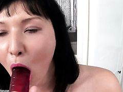 Vanessa Vaughn strips for your viewing pleasure in solo action