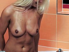 Blonde Victoria Puppy with giant tits is in heat in lesbian action with lovely Jessie Jazz