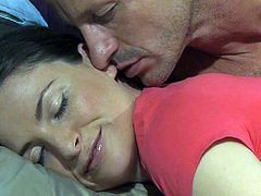 Sleeping beauty gets her pussy licked. She wakes up and gives hot blowjob to her hubby. Later on she gets fucked in doggystyle and cowgirl poses.