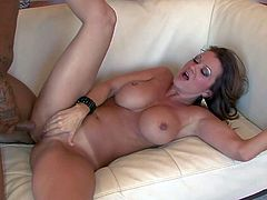 Raquel DeVine is a perfect bodied fuckilicious milf with big round tits and amazing bubble butt. She shows off her curves as she gets her trimmed bush fucked by her sex partner. Watch milf get humped.