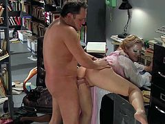 Young bootyliciuos blonde Alexis Texas with natural boobs and provocative mask in pinky outfit gets trimmed pussy licked by Alec Knight and fucks with him in provocative parody.