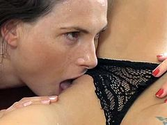 Two naughty and horny sirens gets naked and start having so much fun! Man, they are so fucking amazing and desirable! Lesbians!