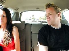 Kortney Kane with round butt takes the pop shot of her dreams