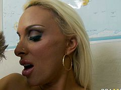 Steamy blowjob and crazy titfuck by bosomy slut Holly Halston