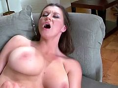 Delicious and delightful honey Sara Stone is here for a huge cock! She takes it in her mouth and she won't it go off her tight snatch!