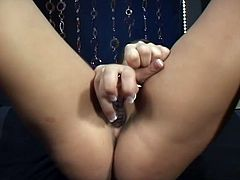 See the naughty babe Penny Flame eagerly masturbating her craving snatch as she plays with it with lust and sexual passion.