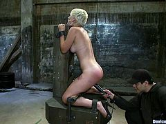 She did not expect a warm welcome, but on the other hand, babe did not expect to be tortured that hard! Anyway, she deserve such a sadistic punishment!