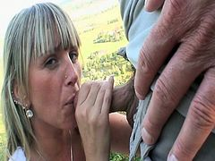 This horny babe was waiting for a bus but soon one other guy came to join her in the bus stops and she began to seduce him by placing his hand on her pussy.Watch how this dude fucks her on the bus stop and other outdoor places.