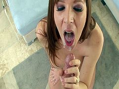 Horny redhead milf sucks cock like a true master during hot POV blowjob scene
