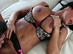 Insolent milf Lisa Ann loves to feel her tight vag getting stretched in pure hardcore scene