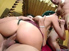 Sex insane brunette s happy for this ones 'cus these two hot tempered studs penetrate her anus and pussy cave at the same time. Go for the steamy double penetration sex scenes for free.