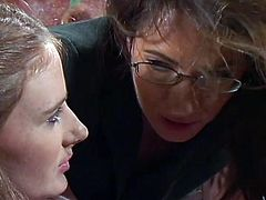 Just don't miss these sexy chicks having fun in the teacher's office. They finger each other's tight pussies before using green dildo to experience ultimate orgasms.