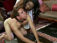 Nasty Nyomi Banxxx whips a guy and gets her vagina licked. After that she gets fucked from behind by another guy. These dudes also lick balls.