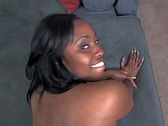 Lovely is another chubby black slut with thick ass. She gets her meaty pussy drilled from your point of view by horny black dude. She exposes her big booty and her natural tits while getting fucked.