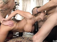 Sonny Hicks admires bodacious Herschal Savages body before she takes his fuck stick in her mouth