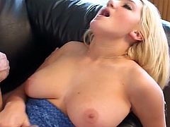this big breasted blonde bitch is seeking something big and hard!