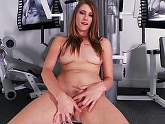 Well, if you really want to find out why she goes to gym, then click on this hot solo scene and find out what this desirable doll does up there.
