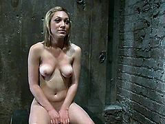 Sexy Lily Labeau gets tied up and then the guy whips her with a stick. Later on he fingers and toys her vagina with a vibrator.