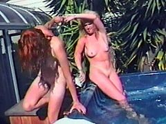 Get a load of this amateur vintage video where these horny ladies will leave you with one hell of a boner as they eat one another out and you hear them moan.