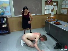 This deliciously hot Asian bitch Mika Tan is going to make Richie Rennt feel so fucked up! She is his teacher and babe is going to punish him for naughtiness!