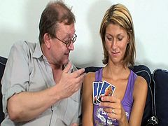 Married Euro couple are ready for some hardcore fun together. They have invited a cute teenie to come over and participate in their nasty threeway session.