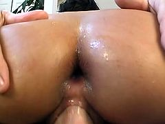 She comes for nasty anal sex and this pimp gave her his hard cock in asshole. He fingered her tight asshole to make it stretch for his big stiff cock so he can nailed her hard