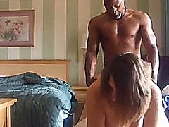 Cheating white housewife is tired of fucking her husband's small viagra needing dick and fucks a big black cock for a change. She gets fucked from behind in the bedroom, while her husband is at work.