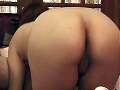 Charming pregnant chick Mari Lee shows her shaved Asian pussy to her man and allows him to play with it. Then they fuck in missionary and other positions and Mari enjoys it much.