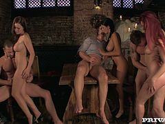 Provocative slut Mira arranges hot group sex orgies. You are right here to enjoy watching three sextractive bitches are getting fucked all possible styles.