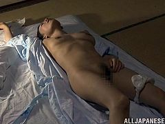 Well, check this amazing porn video out! Stunning Japanese milf gives herself to this dude and he fucks her with some heavy breath!