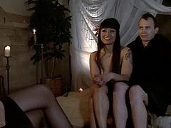 Stunning Asian mistress ties the guy up and tortures him with metal claws. Later on she starts to shove her toes in his ass. Then she also gives him a handjob and a footjob.
