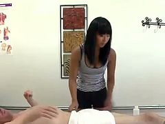 This massage parlor Asian is giving a great handjob and much more. There is nothing she wont do to get better tips and an orgasm.