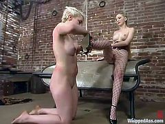 She's been naughty with her mistress and today they decide to be sensual. But, the thing is that Lorelei Lee just lays there and enjoys the twirling tongue of Chanta-Rose.