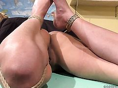 Blonde Nikky Thorne gets her beaver licked many times by Betty Stylle before getting orgasm
