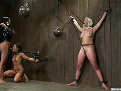 Two busty and smoking hot sirens Sexy Jade and Lorelei Lee are abused so hard. They get trapped in the devices and tortured so fucking hard.