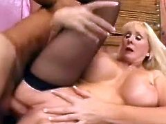 We have this Spicy mature blonde pussy in this movement having her peach fix from her stud. Look at as she is bumped giant in this mov and orgasmed onto her oustanding boobies!