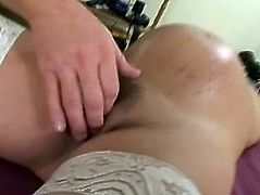 Gorgeous long-haired brunette Brittany Blue is having fun with some guy indoors. She shows her pregnant belly to the man and then allows him to rub her vag and fuck it doggy style.