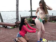 Luna Star with bubbly booty and Aurielee Summers both have fierce appetite for lesbian sex